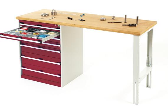 Dielenský pracovný stôl so skrinkou